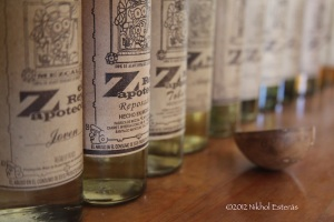 Mezcal Bottles and Jicara