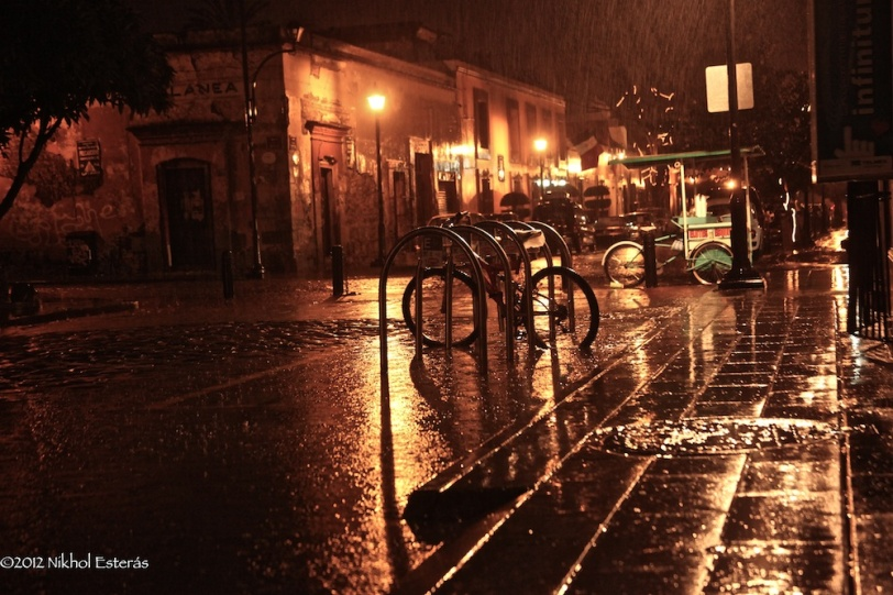 Rainy night in Oaxaca
