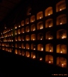 Cemetery in Oaxaca lit up between the 31st October and 2nd November