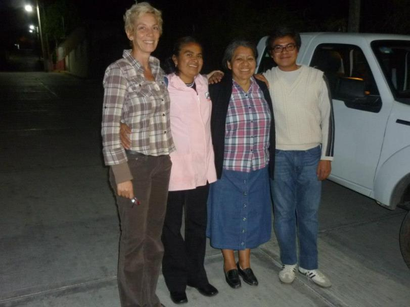 The team from CORAL with Karen from Proyecto Raices. They worked from 7am to 8pm