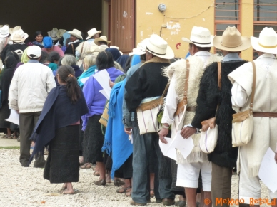 We came across these locals queuing for their pensions in their black and white tunics