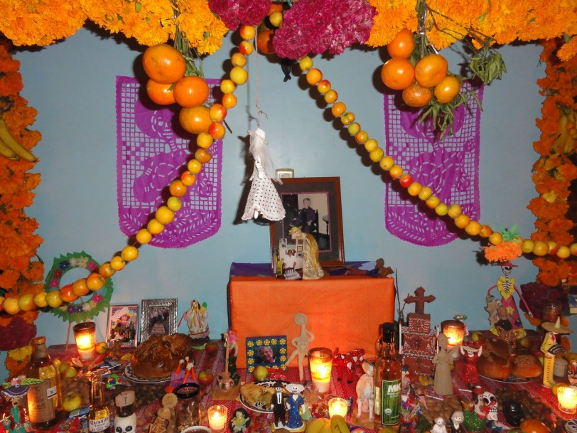 The beautifully decorated altar at our hotel