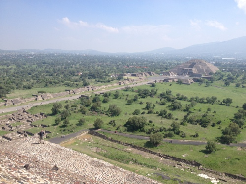 Perched atop the Pyramid of the Sun in Teotihuacan