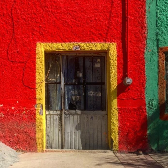 Multicoloured doorway